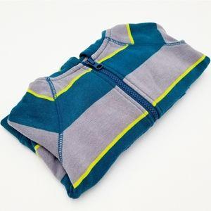 Cat & Jack striped hoodie sz 18M boys, blue/gray
